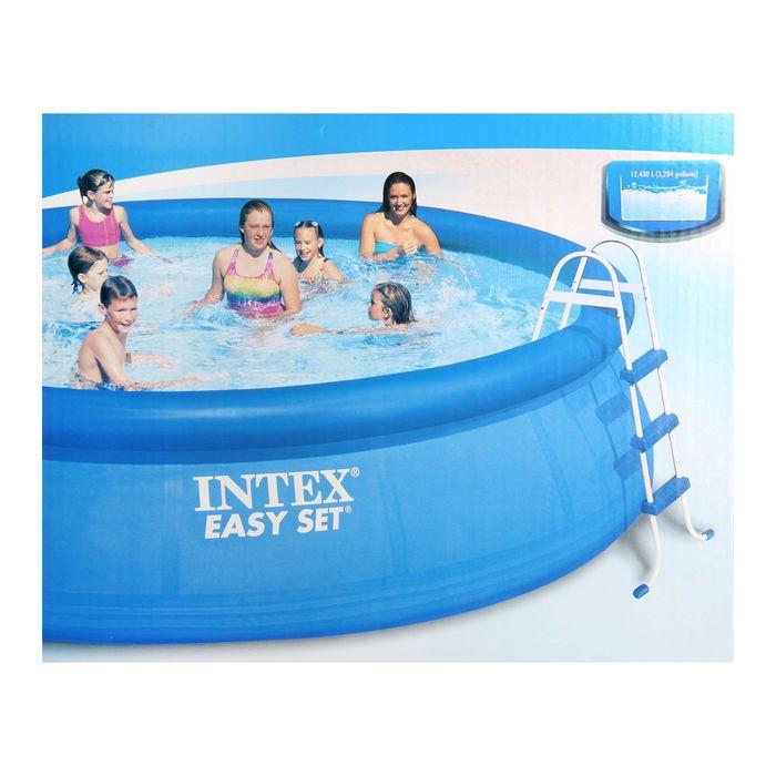 Бассейн надувной Easy Set, 457х107 см, фильтр-насос, лестница, тент, подстилка 28166 INTEX