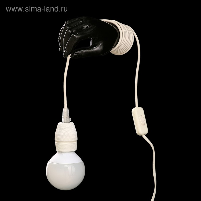 """Светильник настенный """"Лампа в руке"""" черный"""