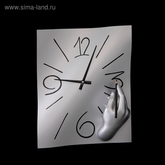 """Часы настенные """"Ручная работа"""", цвет хром"""