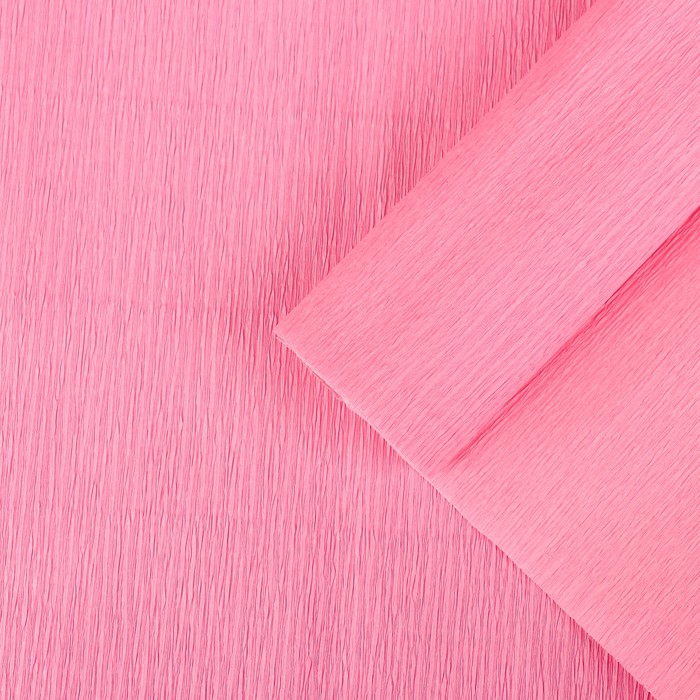 Бумага крепированная, цвет бледно-розовый