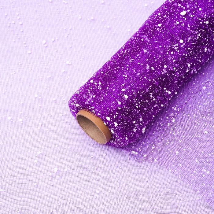 """Сетка """"Снег"""", цвет фиолетовый"""