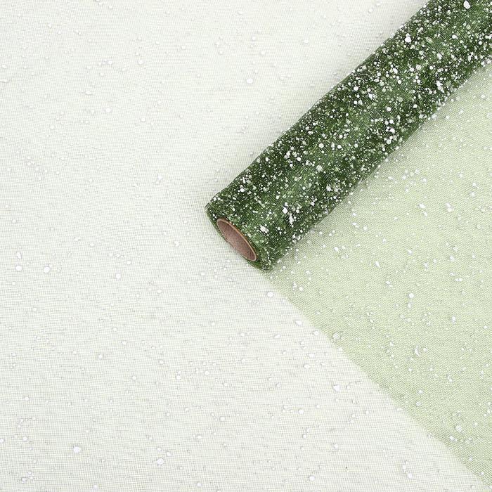 """Сетка """"Снег"""", цвет зеленый, 48 см х 4,5 м"""