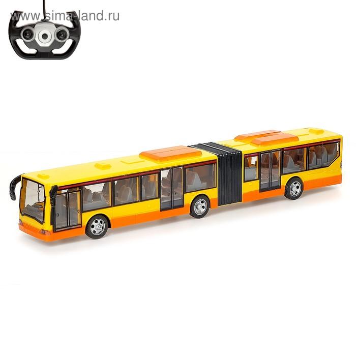 """Автобус радиоуправляемый """"Городской"""", световые эффекты, работает от батареек, цвета МИКС"""