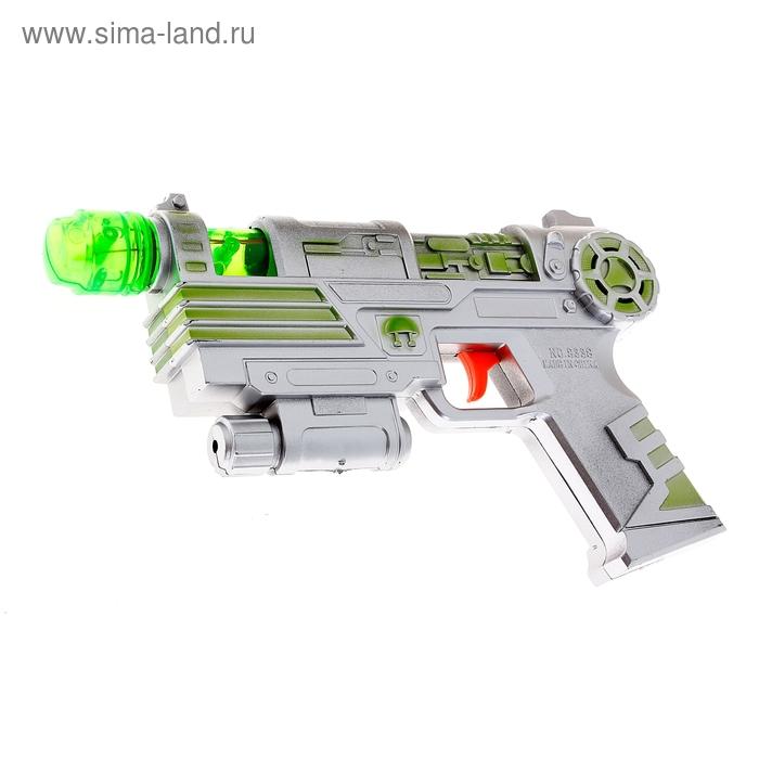 """Пистолет """"Снайпер"""" на батарейках, световые и звуковые эффекты, цвета МИКС"""