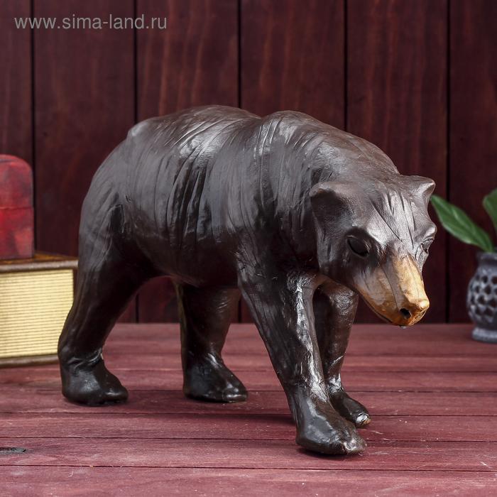 "Сувенир ""Медведь"", обтянутый кожей"
