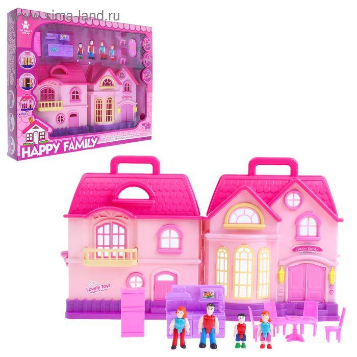 Дом для кукол, с мебелью, световые и звуковые эффекты, работает от батареек