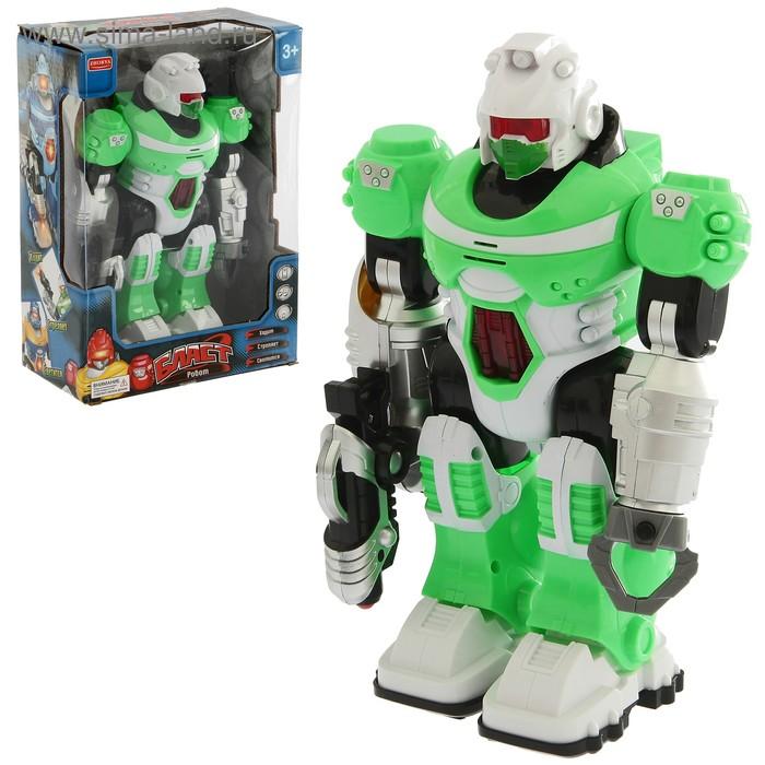 """Робот """"Бласт"""",работает от батареек, световые и звуковые эффекты"""