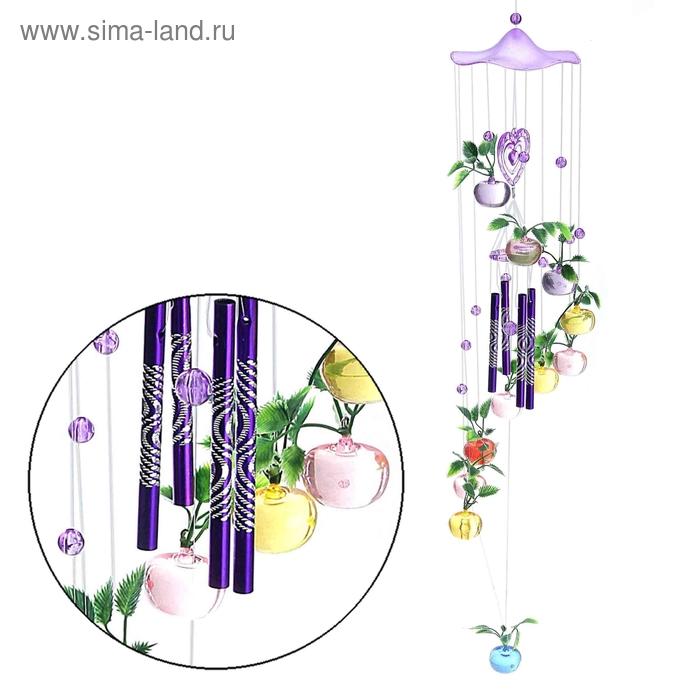"""Музыка ветра """"Яблочко"""" 4 трубочки, 21 фигурка, цвета МИКС"""