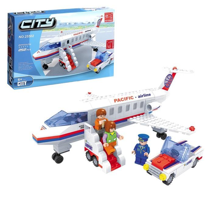 Конструктор «Гражданский самолёт», 252 детали