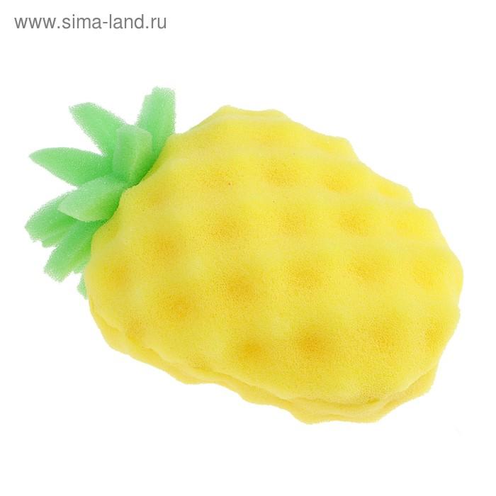 """Губка """"Веселые фрукты. Ананас"""", цвет МИКС"""