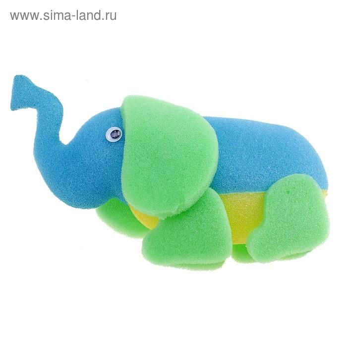 """Губка """"Веселый зоопарк"""" слоник, цвет МИКС"""