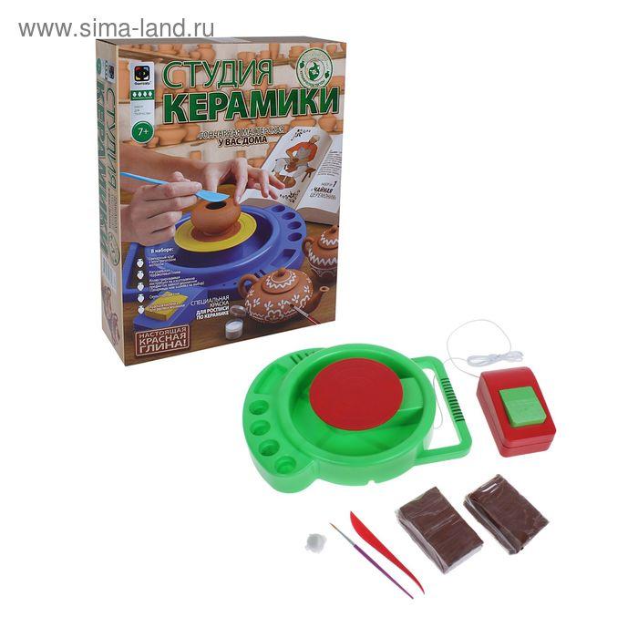 """Набор с гончарным кругом, серия """"Студия керамики"""": чайная церемония, красная глина"""