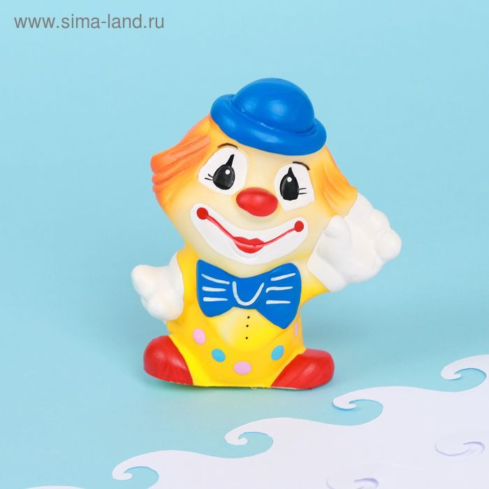 """Резиновая игрушка """"Клоун в шляпе"""""""
