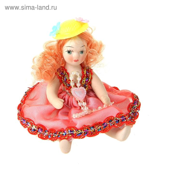 """Кукла коллекционная """"Малышка в шляпке с цветочками"""" МИКС"""
