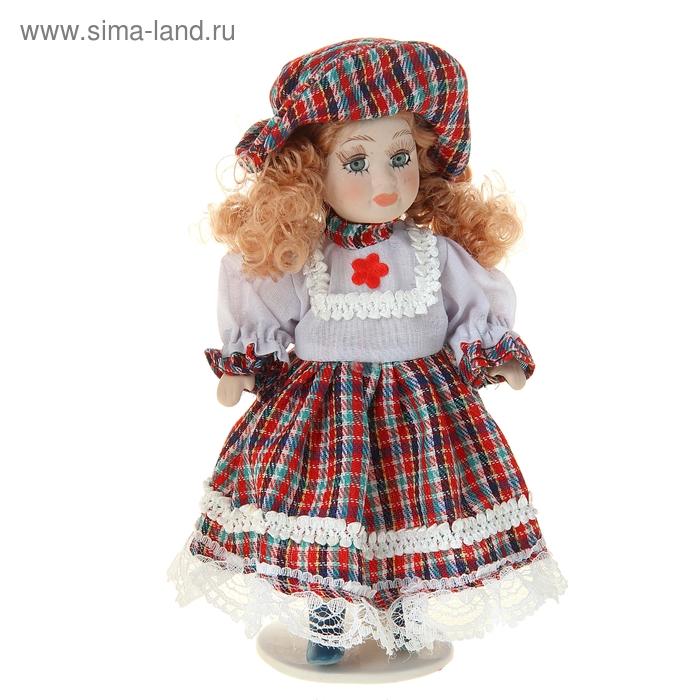 """Кукла коллекционная """"Катерина в шотландском платье"""""""