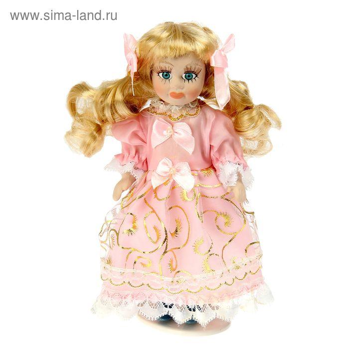 """Кукла коллекционная """"Олечка в розовом платьице"""""""