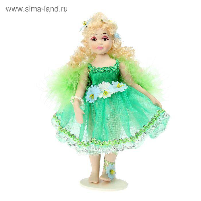 """Кукла коллекционная """"Фея Дженни с зелёными крыльями"""""""