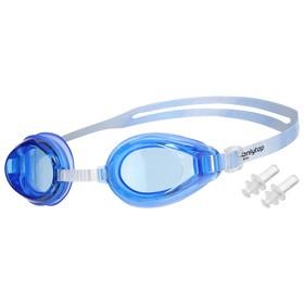 Очки для плавания взрослые, силикон, цвета МИКС