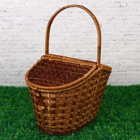 Корзина плетёная, с двухстворчатой крышкой, размер XL