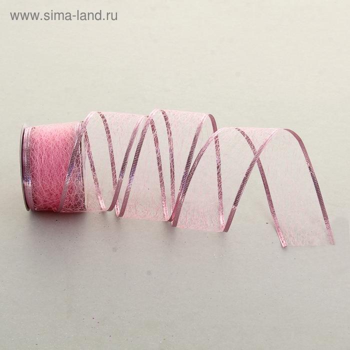 "Лента упаковочная армированная ""Паутинка"", цвет светло-розовый"