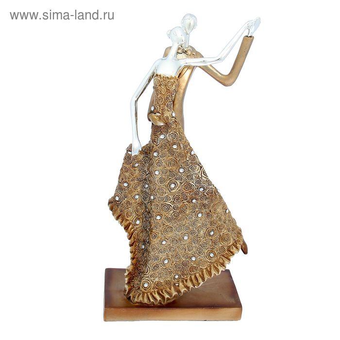 """Сувенир """"Страстный танец"""" золотое платье"""