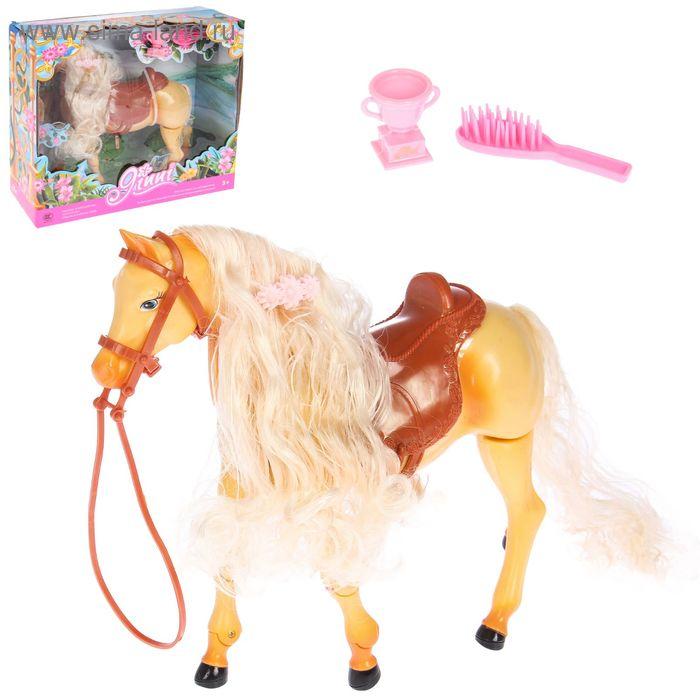 """Лошадка """"Джинни"""" ходит, кивает головой, со звуковыми эффектами, с аксессуарами, МИКС"""