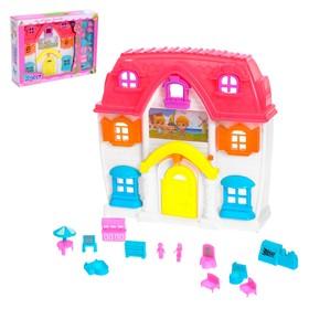 Дом для кукол, с мебелью, световые и звуковые эффекты, работает от батареек, цвета МИКС Ош