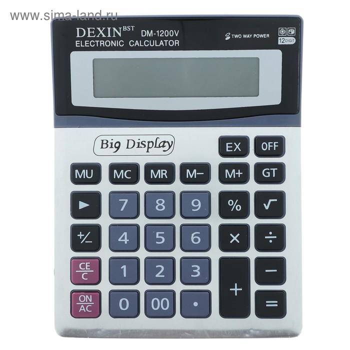 Калькулятор настольный 12-разрядный DM-1200V двойное питание