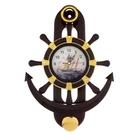 """Часы настенные """"Якорь"""" с маятником, тёмно-коричневые"""