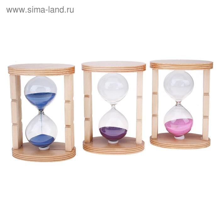 """Часы песочные """"Две колонны"""" резные, цвета микс"""
