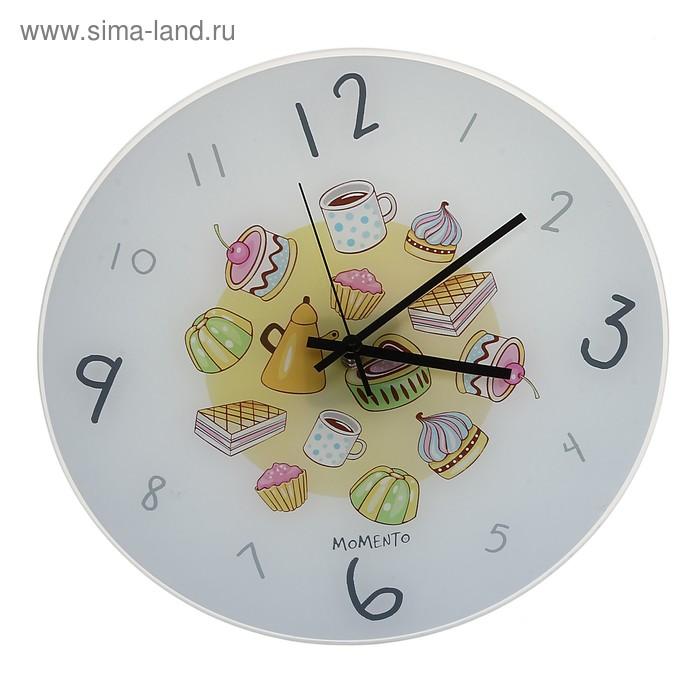 """Часы настенные из стекла """"Сладости"""""""