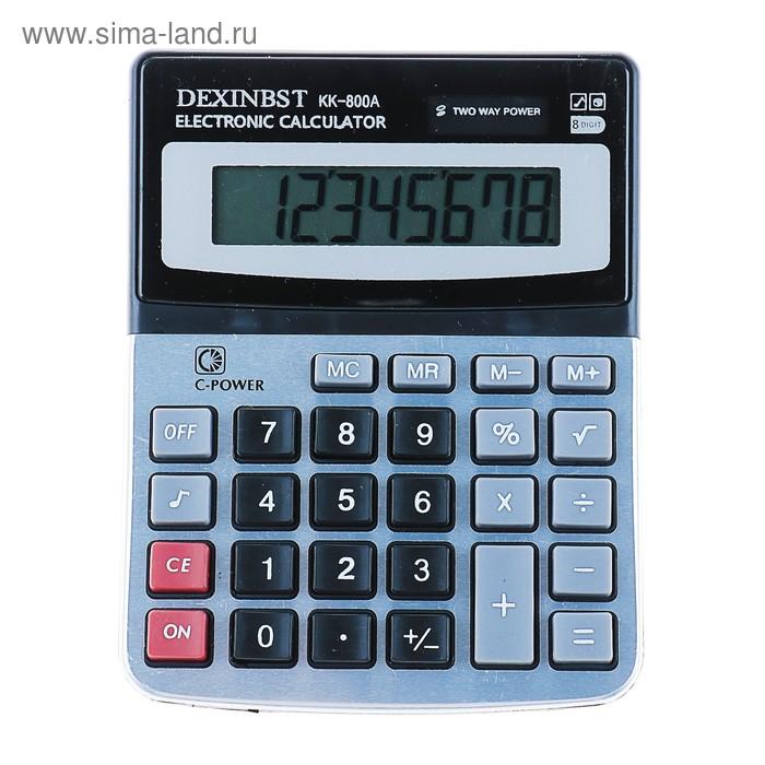 Калькулятор настольный 08-разрядный KK-800A двойное питание