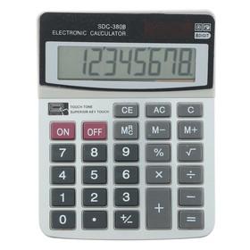 Калькулятор настольный 08-разрядный SDC-3808 двойное питание Ош