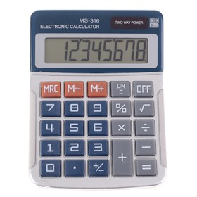 Калькулятор настольный 08-разрядный MS-316 двойное питание Ош