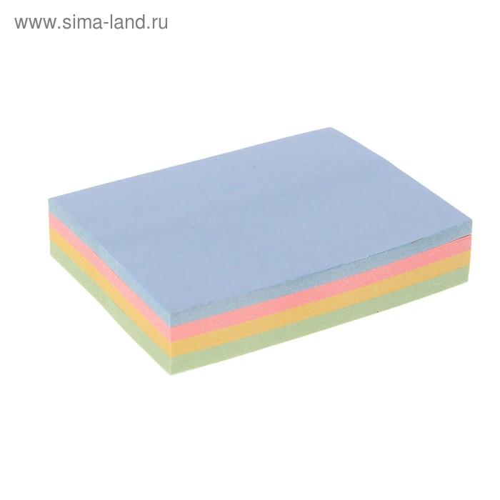 Блок с липким краем 51мм*38мм 100л-4цв пастель МИКС
