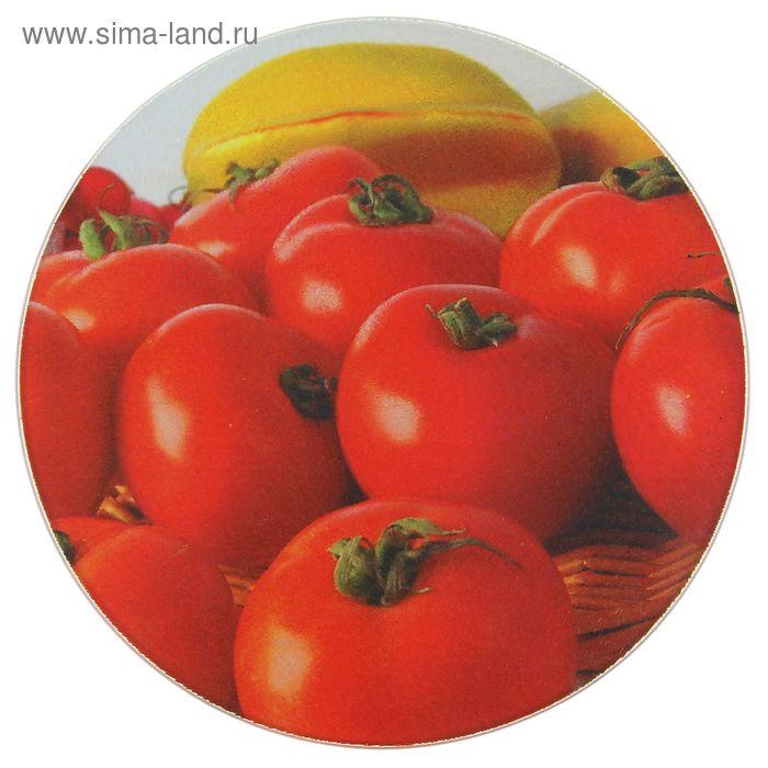 """Доска разделочная 20х20 см """"Сочные томаты"""""""