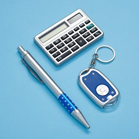 Набор подарочный 3в1: ручка, калькулятор, фонарик Ош