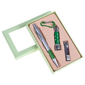 Набор подарочный 3в1: ручка, кусачки, фонарик Ош