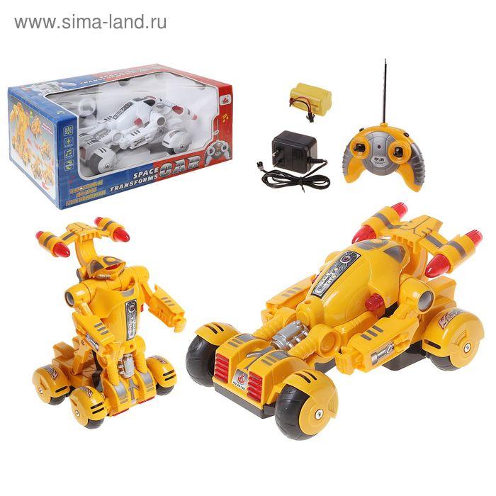 """Машина-трансформер """"Робот"""", радиоуправляемая, с аккумулятором, световые и звуковые эффекты, цвета МИКС"""