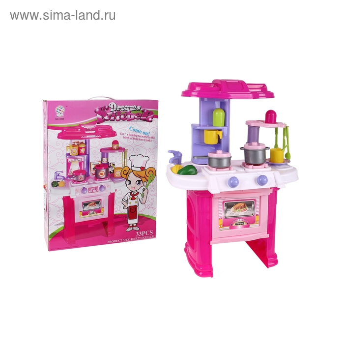 """Игровой набор """"Кухня мечты"""" с аксессуарами, высота:59,5 см"""