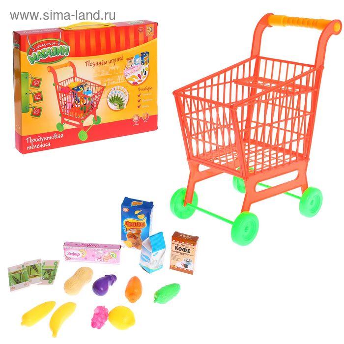 """Игровой набор """"Супермаркет"""": тележка с продуктами, высота 43 см"""