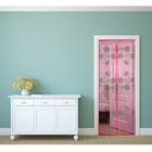"""Сетка антимоскитная на магнитной ленте 80x210 см """"Цветы"""", цвет розовый"""