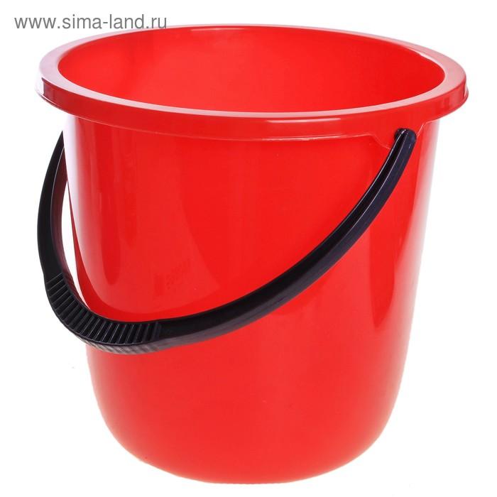 """Ведро пластиковое 12 л """"Нео"""", цвет красный"""