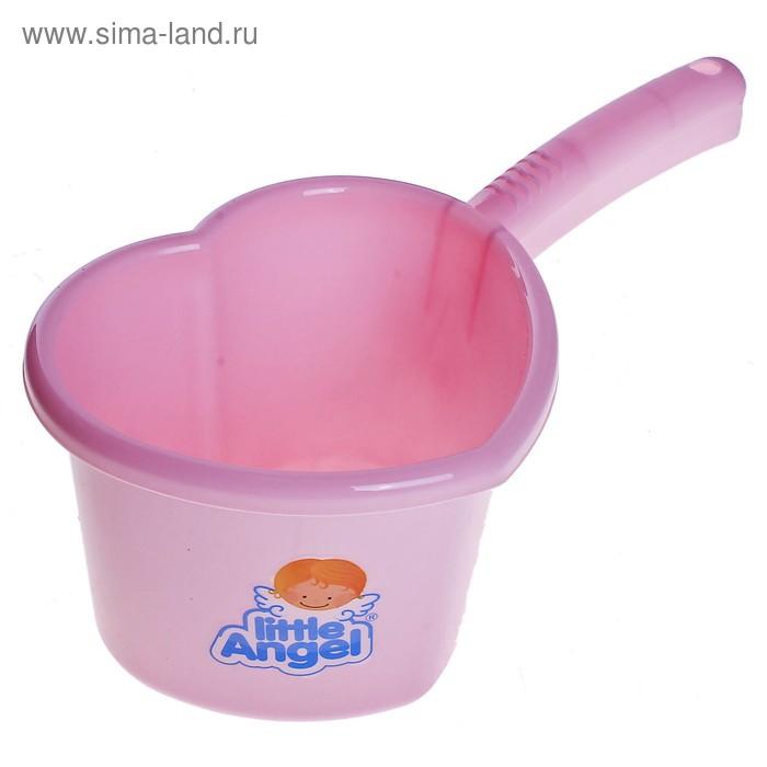 Ковш детский 1,5 л Little Angel, цвет розовый