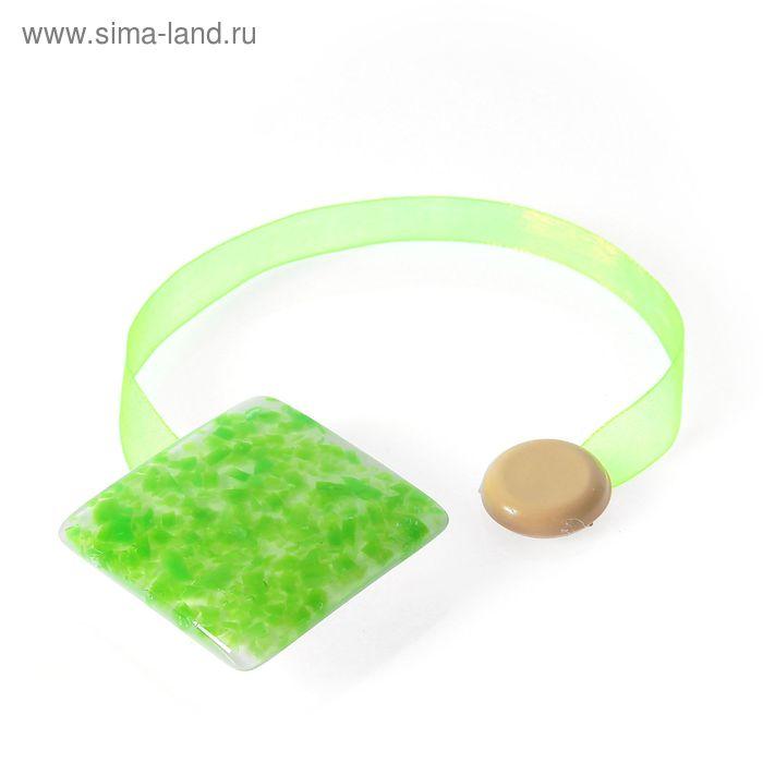 """Подхват для штор на ленте """"Серпантин"""", цвет зелёный"""