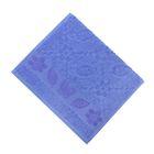 Полотенце махровое Fiesta Cotonn Butterfly, размер 30х50см, 420гр/м2, цвет голубой
