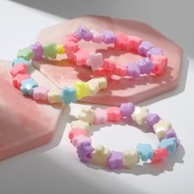 Браслет детский 'Выбражулька', цветы, цвет МИКС Ош