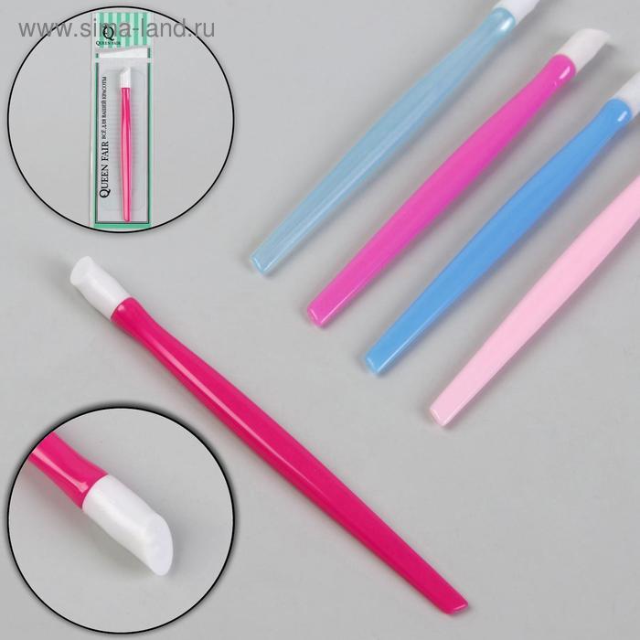 Пушер для ногтей, резиновая ручка МИКС