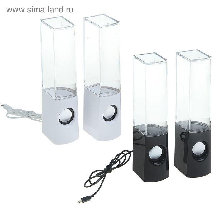 "Портативные колонки USB для ПК ""LED фонтан"", AUX, МИКС"