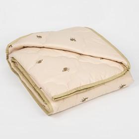 """Одеяло всесезонное Адамас """"Верблюжья шерсть"""", размер 172х205 ± 5 см, 300гр/м2, чехол тик"""